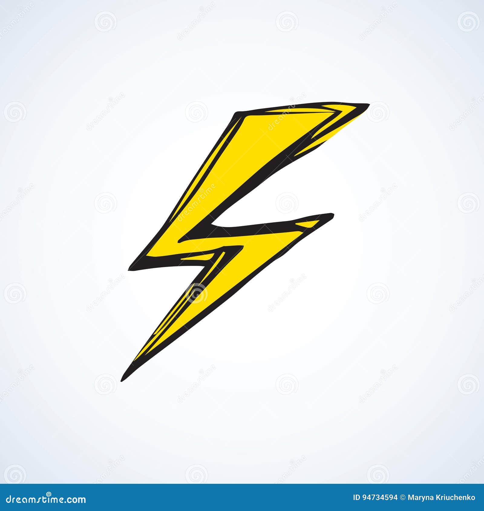 symbol of lightning vector illustration stock vector
