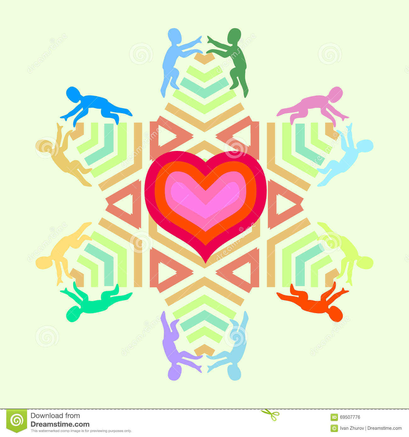 Unity symbol stock photos download 24800 images symbol of love and unity with heart star and people icons heart enclosed in a biocorpaavc Gallery