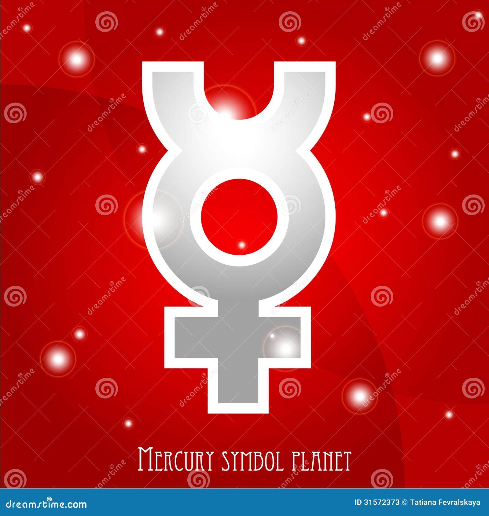 Symbol of mercury planet stock illustration illustration of symbol of mercury planet buycottarizona Choice Image