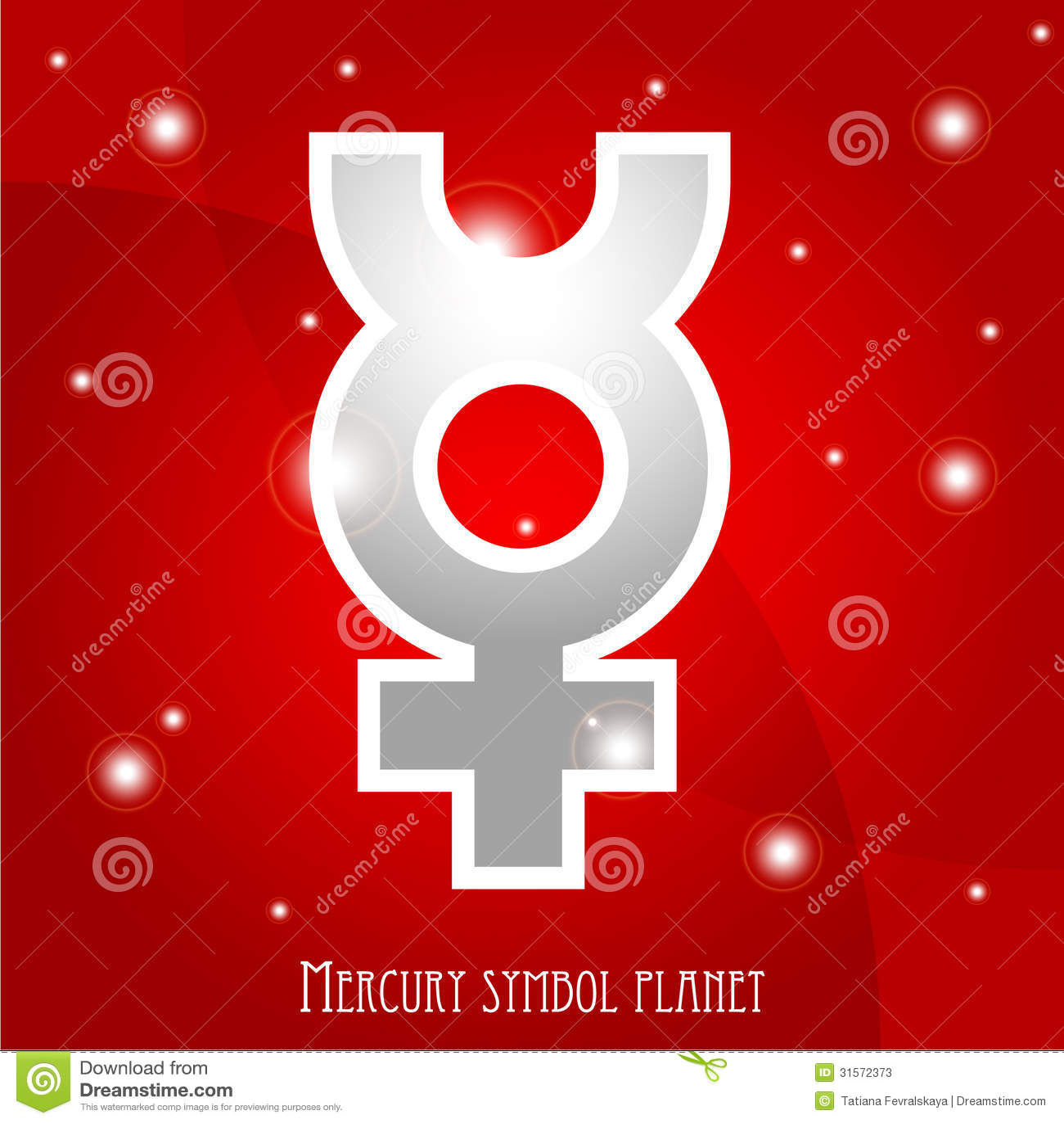 Symbol Of Mercury Planet Stock Illustration Illustration Of