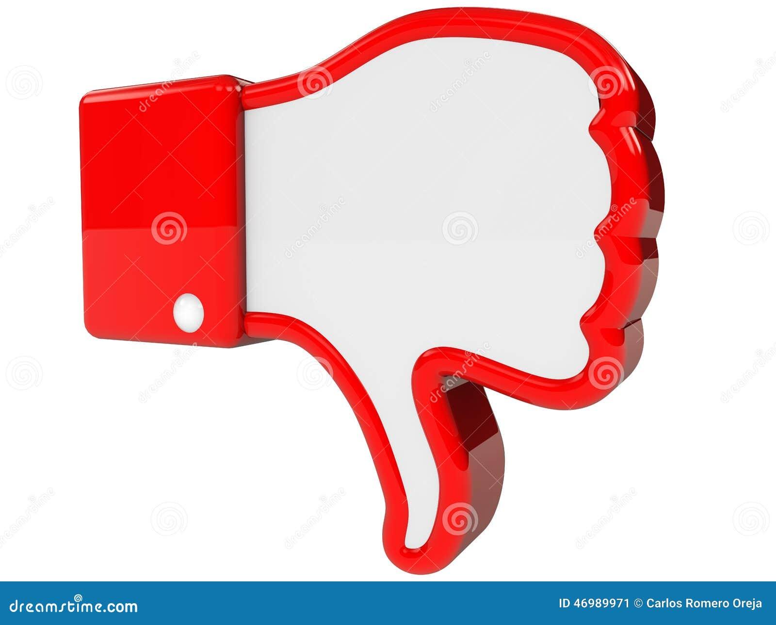 Symbol of negative feedback stock illustration image 46989971
