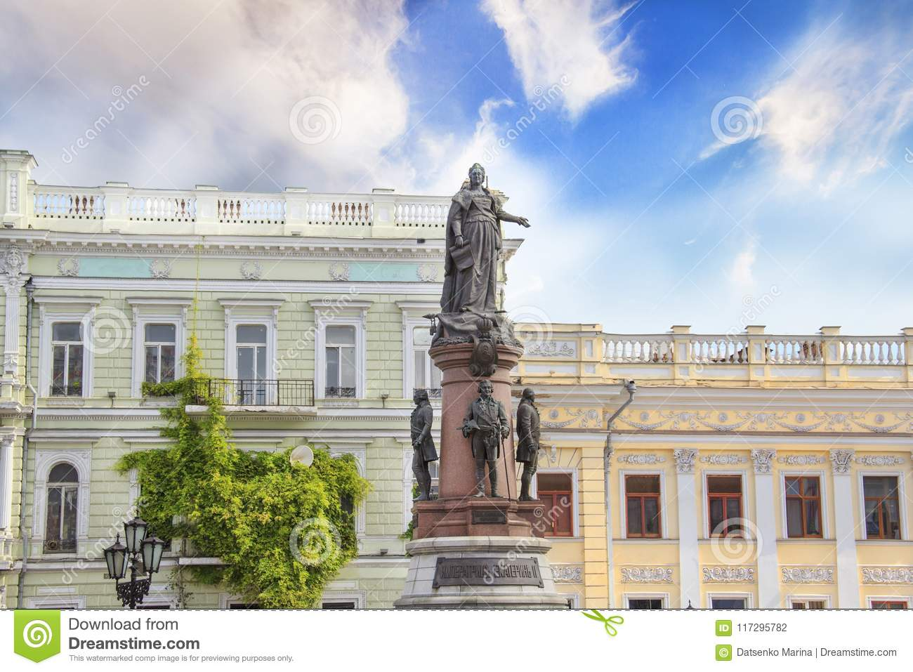 The Symbol Of Odessa Bronze Monument To Catherine The Great In