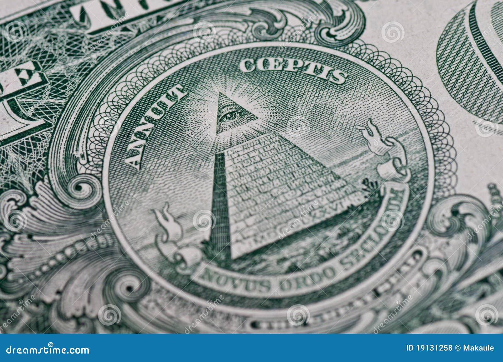 Symbol On One Dollar Stock Photo Image Of Lucre Rosicrucian 19131258