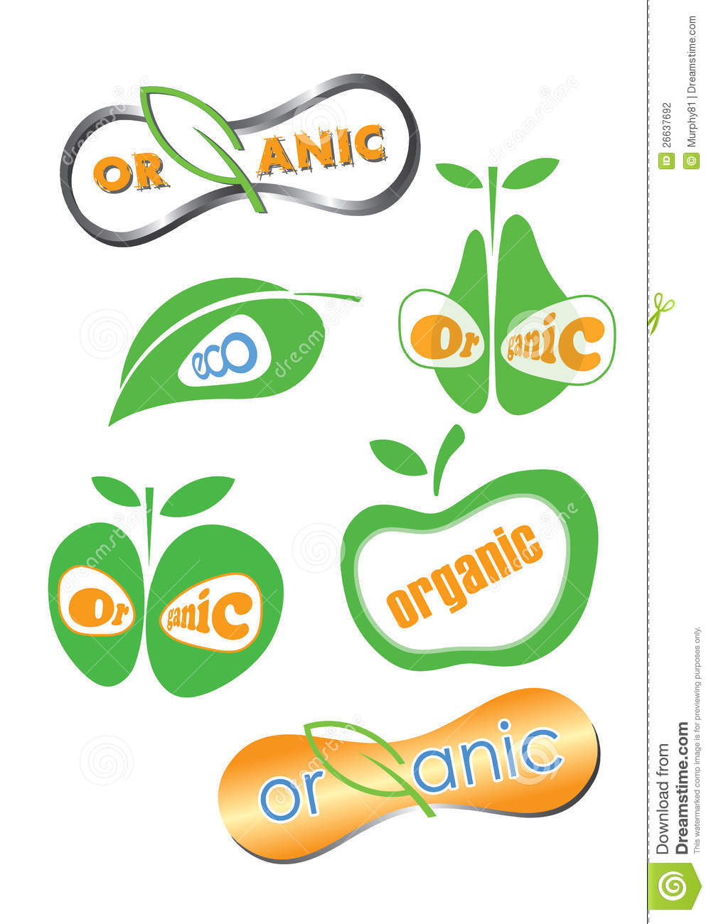 Symbol For Organic Food And Drink Stock Photography ...