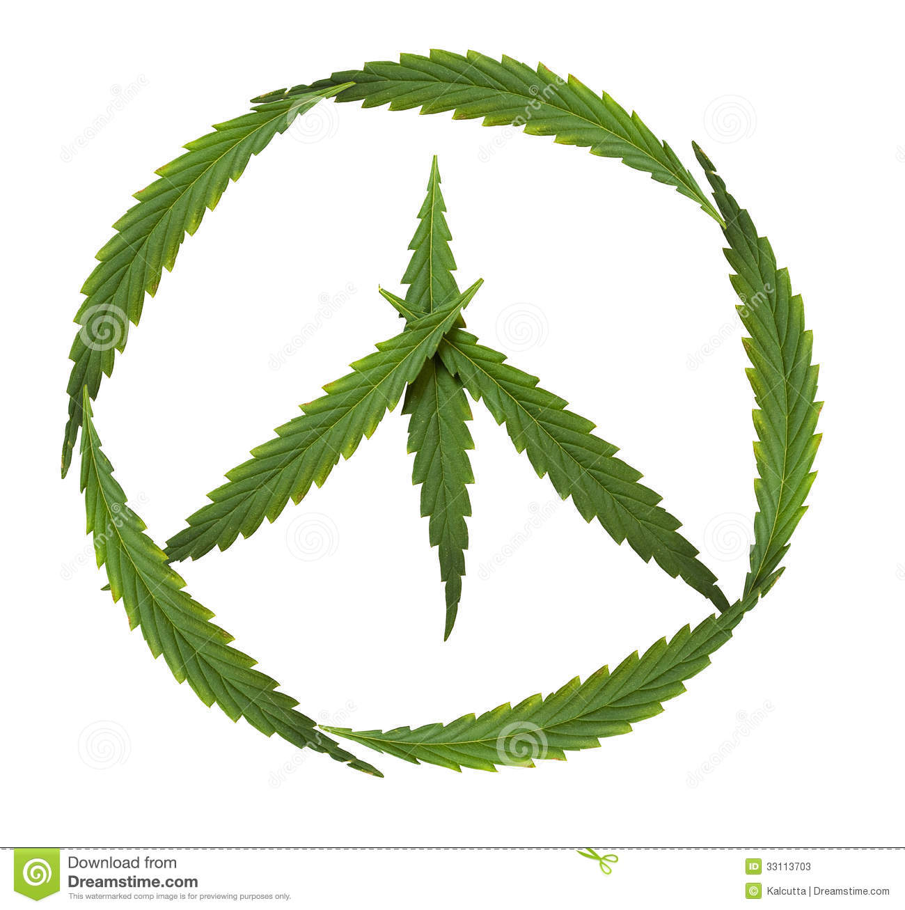 Symbol Of Peace Marijuana Symbol Of The Hippie Stock Image Image