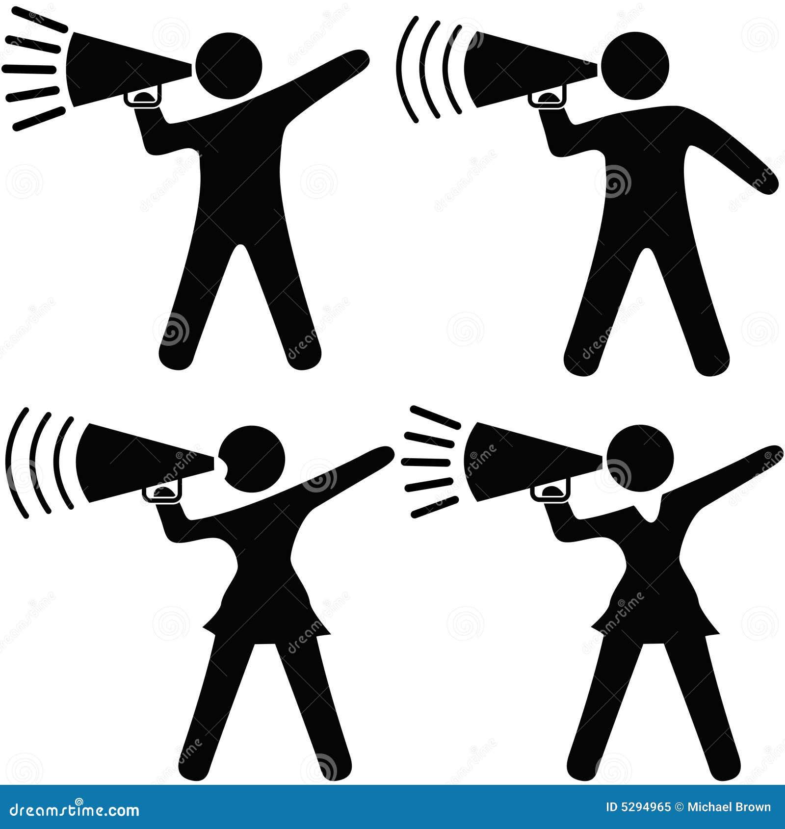 Symbol People Cheerleader Megaphone