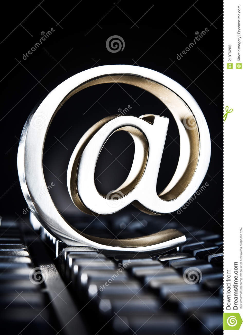 At Symbol Placed On Computer Keyboard Stock Image Image Of Still
