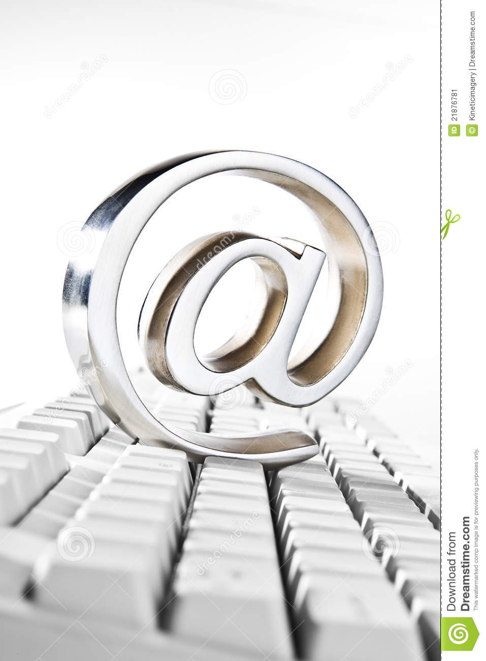 At Symbol Placed On Computer Keyboard Stock Image Image Of Symbol