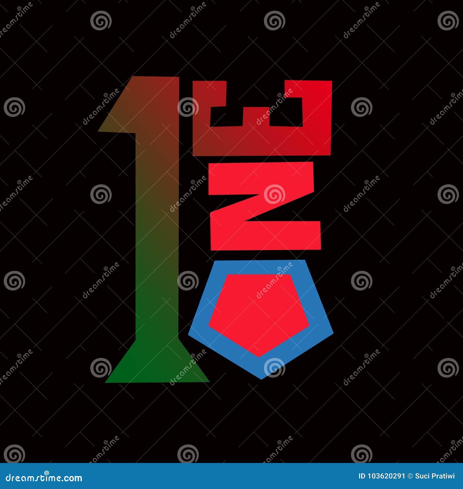 1one Symbols Illustration Stock Illustration Illustration Of