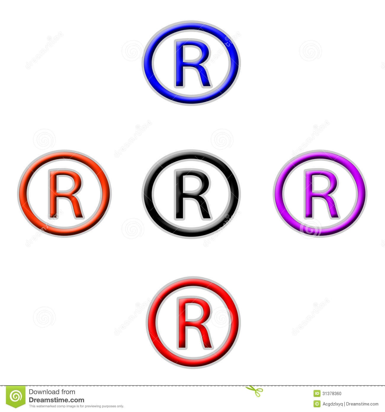 Symbol Registered Stock Photo Image Of Abstract Design 31378360