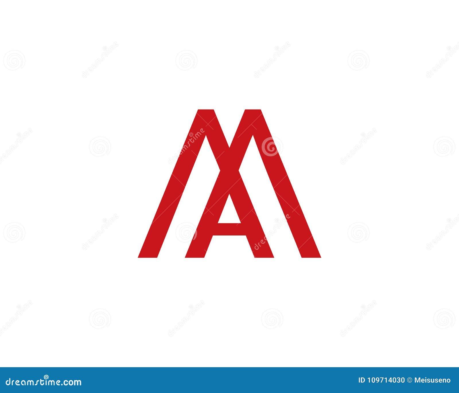 Ma Letter Logo Stock Vector. Illustration Of Branding