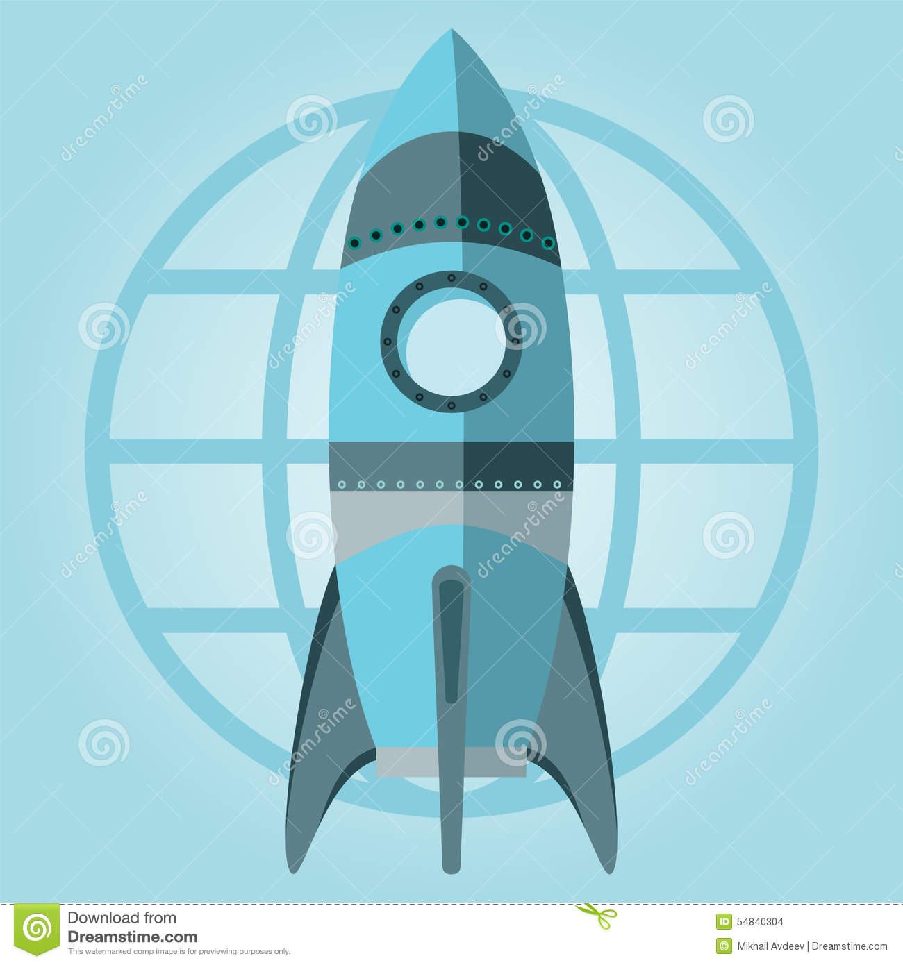 new business project startup symbol rocket space ship launch icon design template on grey. Black Bedroom Furniture Sets. Home Design Ideas