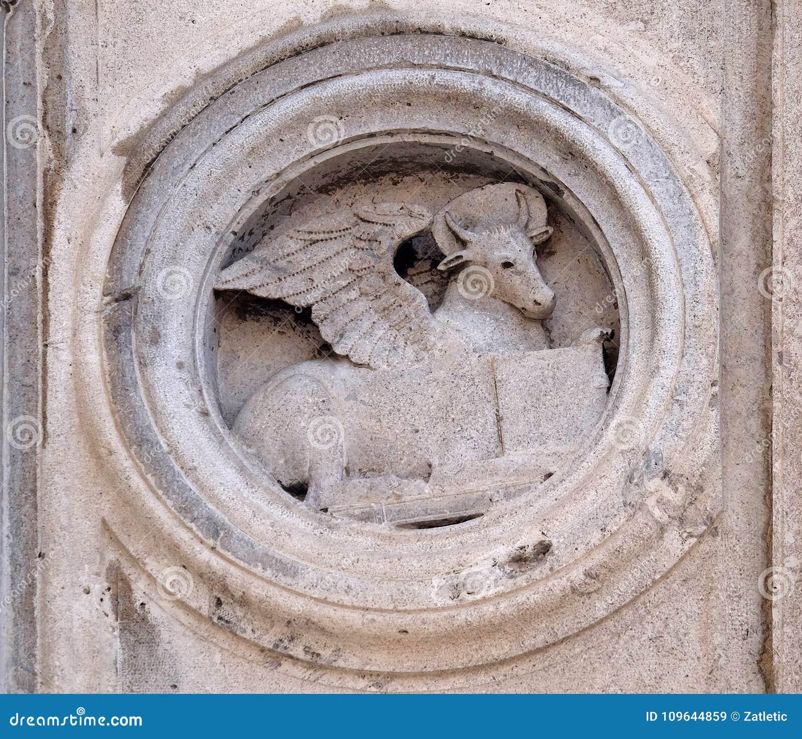 Symbol Of Saint Luke The Evangelist Stock Image Image Of Gospel