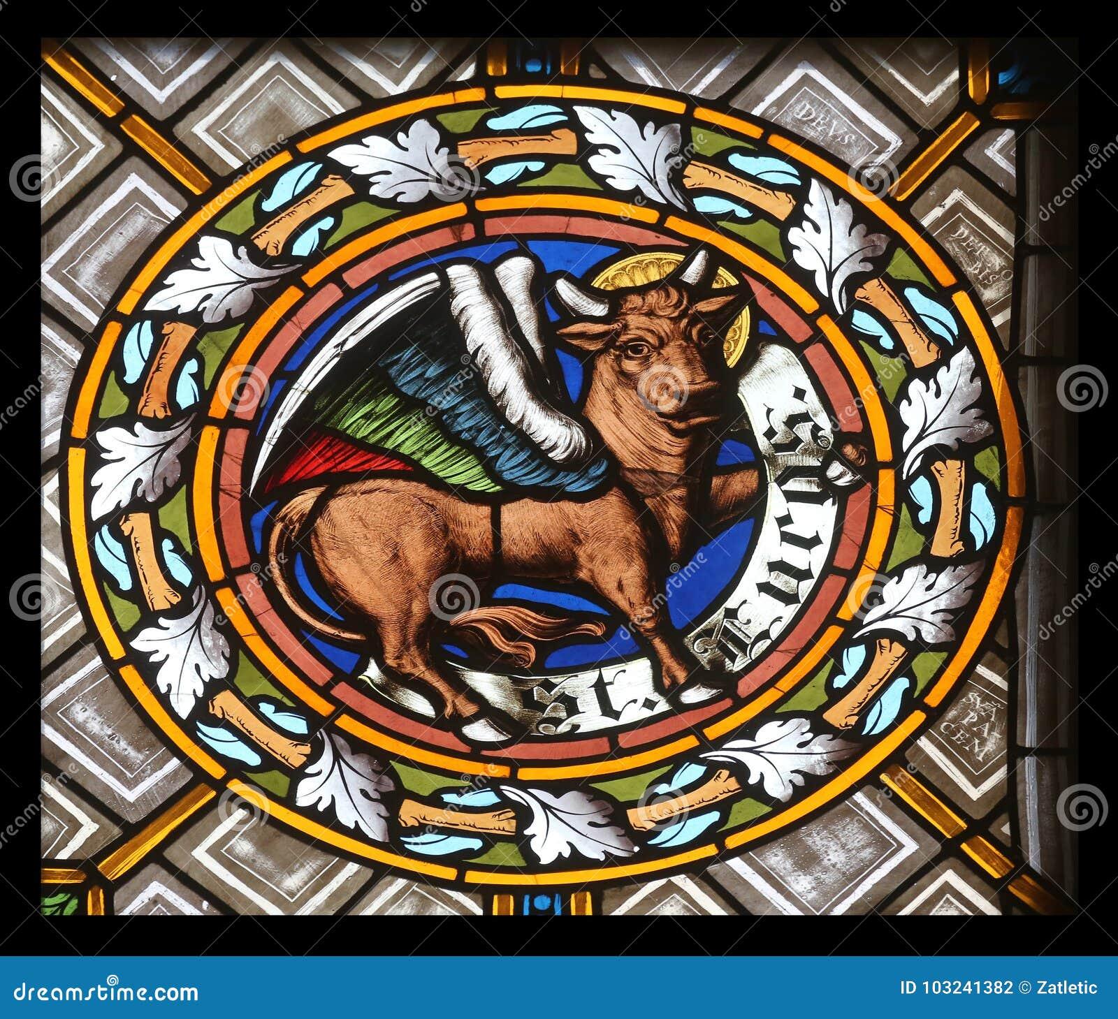 Symbol Of The Saint Luke The Evangelist Stock Photo Image Of
