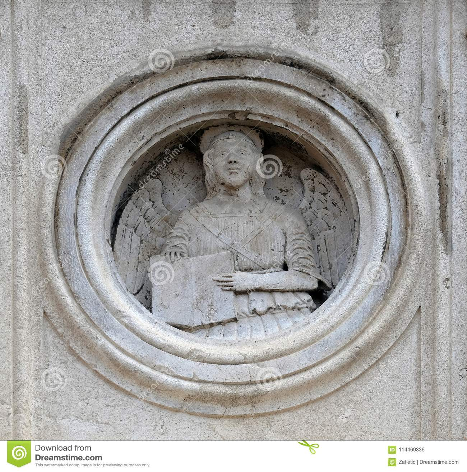 Symbol Of Saint Matthew The Evangelist Stock Photo Image Of