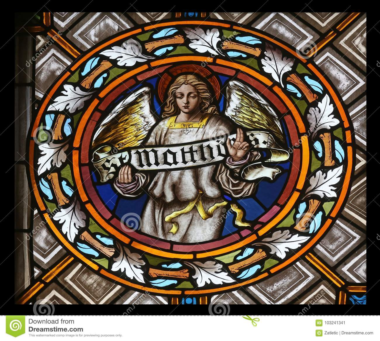 Symbol Of The Saint Matthew The Evangelist Stock Image Image Of