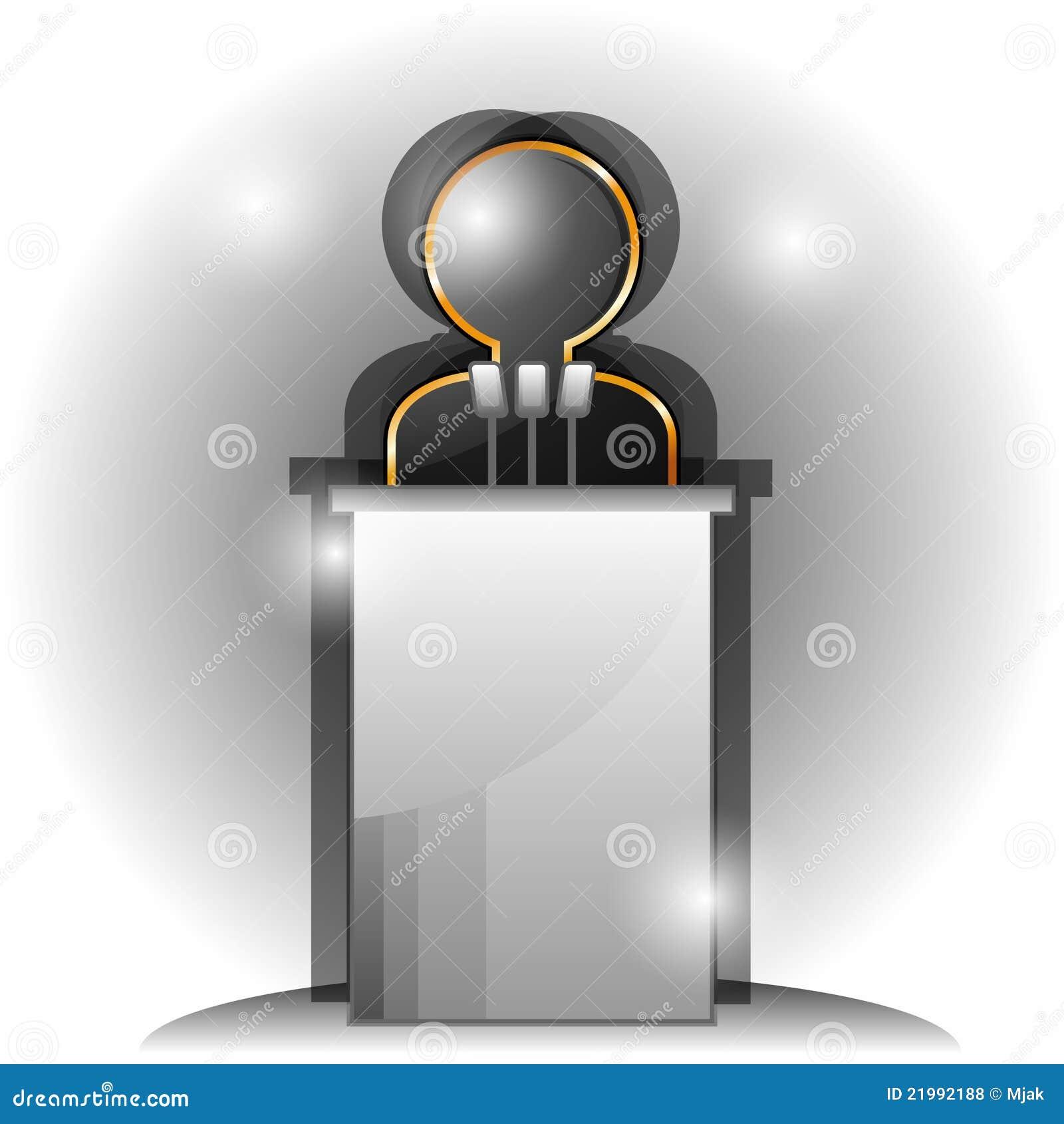 Symbol Of Speaker Stock Vector Illustration Of Spokesman 21992188