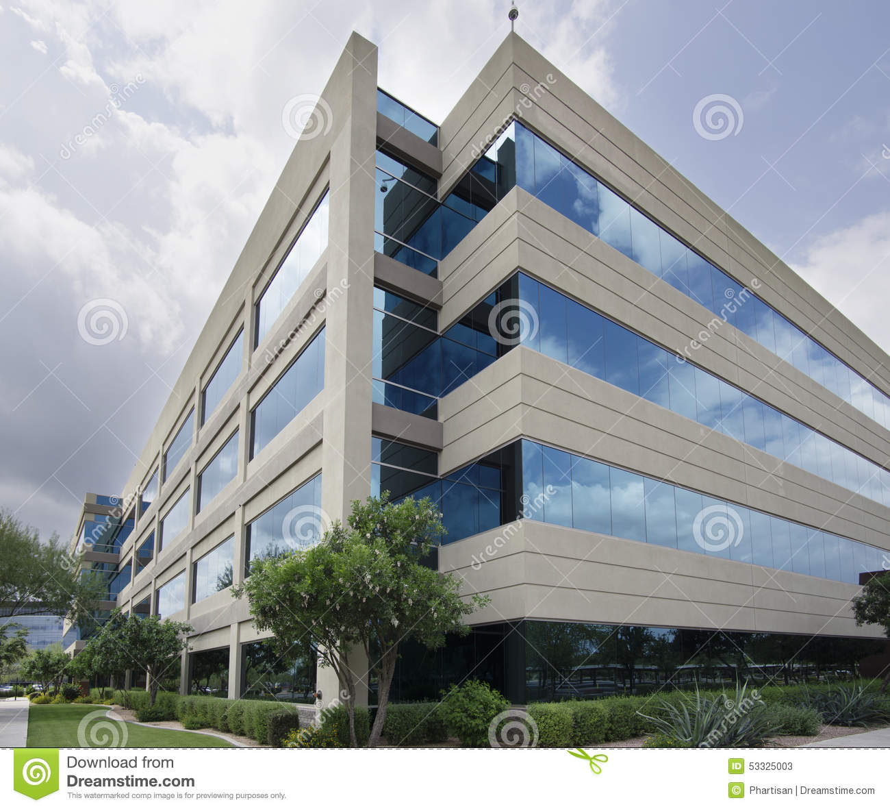 Symbol Of Success   Modern Glass Office Building Stock Image   Image Of  Blue, Contemporary: 53325003