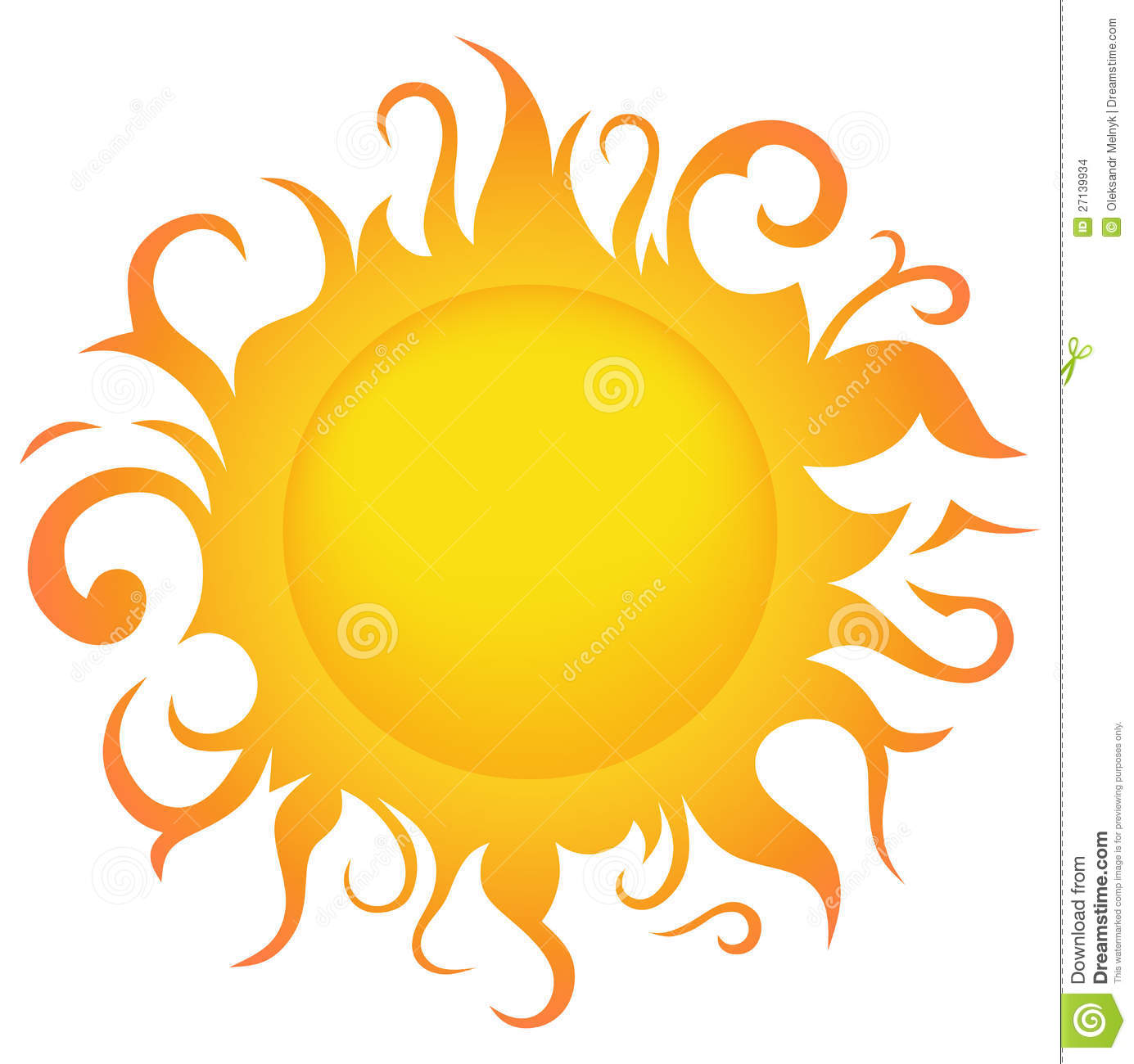 Symbol Sun Stock Images - Image: 27139934