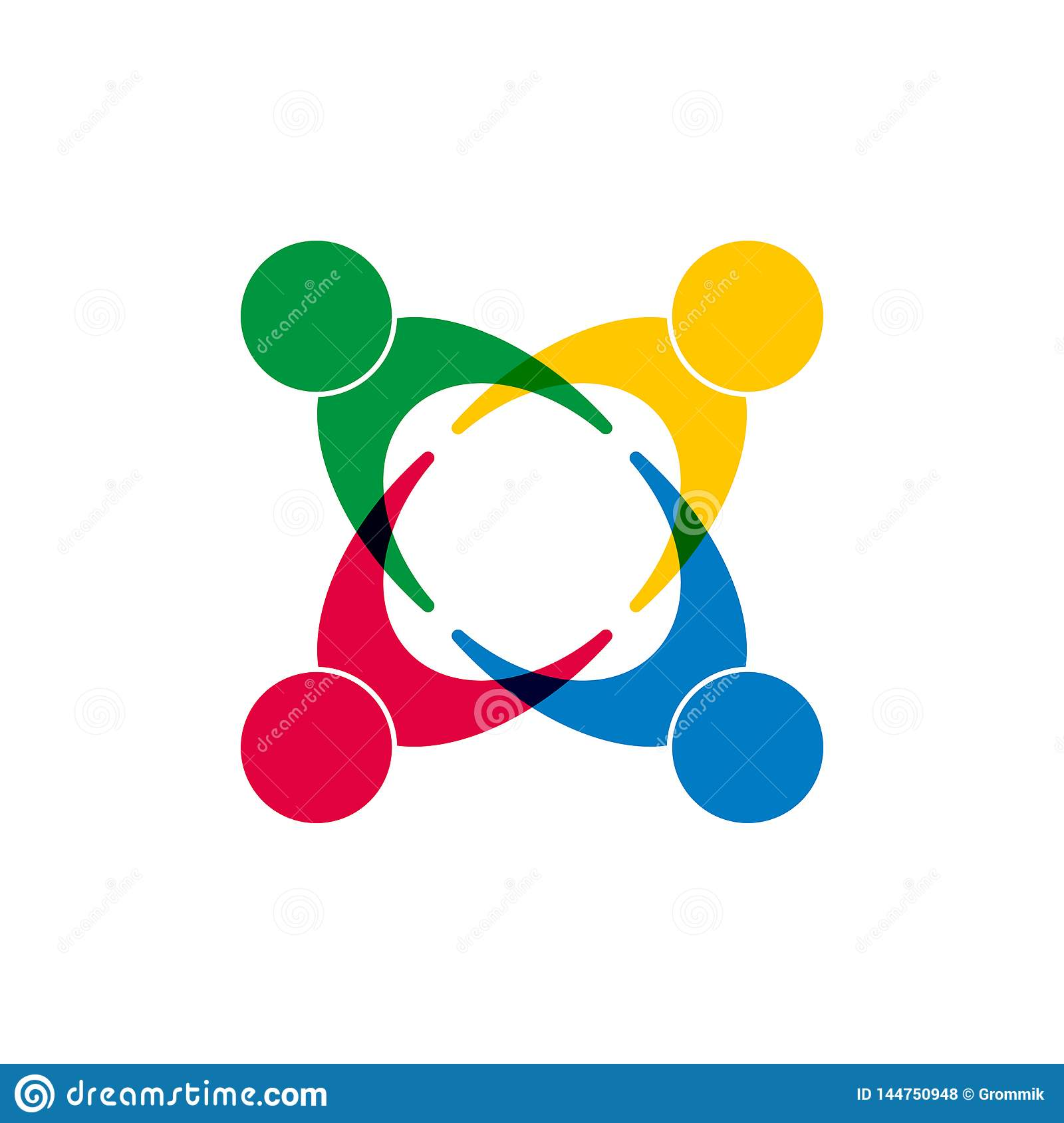 Symbol Of Unity Of Different People, Simple Design Stock ...