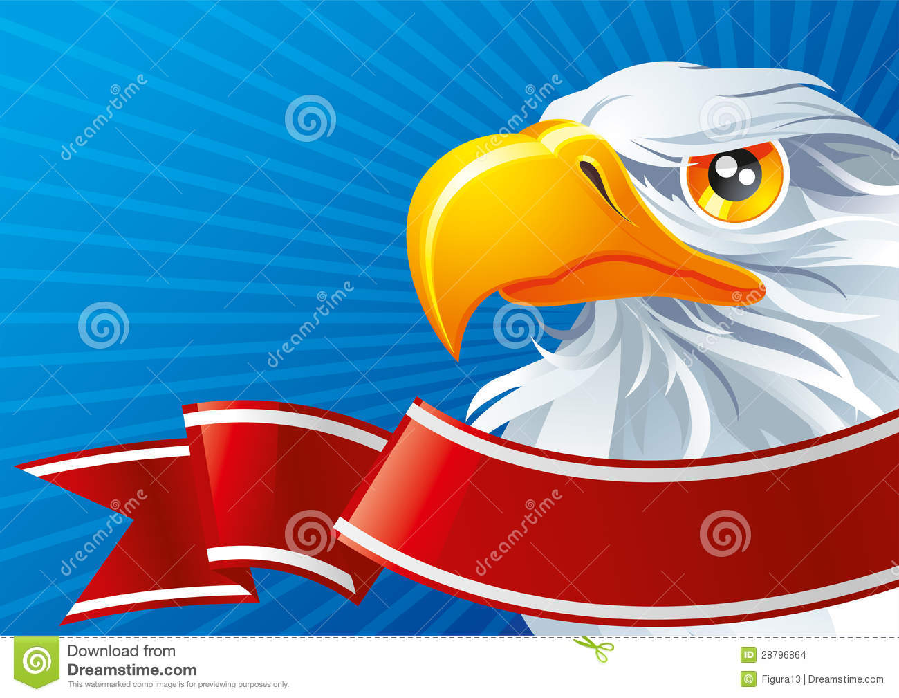 Symbol Of Usa Stock Vector Illustration Of Waving Government