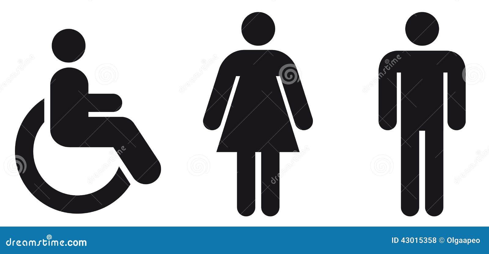 SymbolWC Vektor Abbildung  Bild 43015358 -> Banheiro Feminino Vetor Free