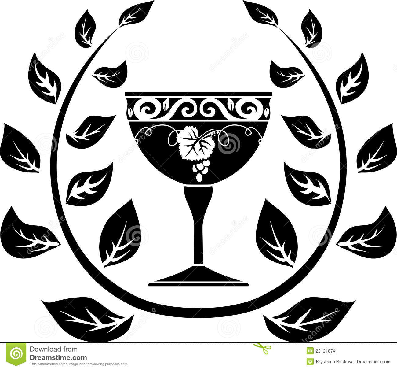 Symbol of wine stock vector illustration of abstract 22121874 symbol of wine biocorpaavc Gallery