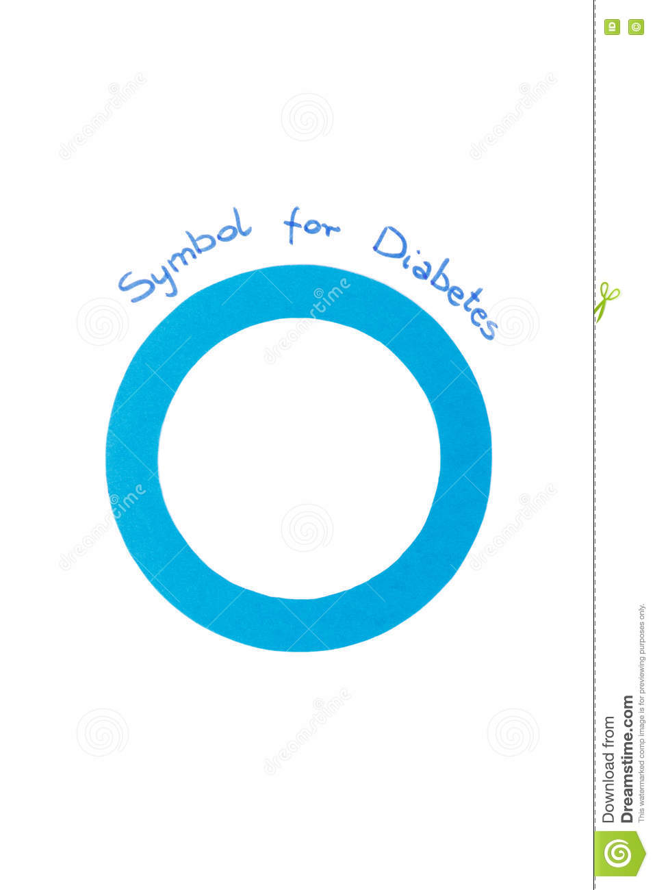 symbol of world diabetes day on white background stock photo symbol of world diabetes day on white background