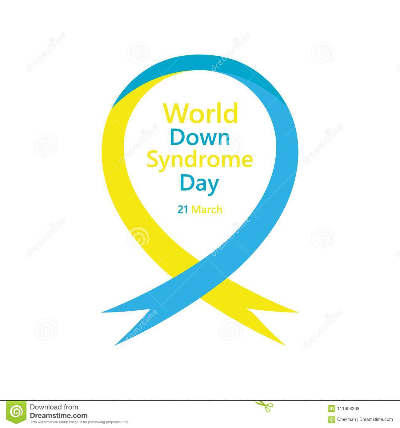 Symbol Of World Down Syndrome Day  Vector Illustration Stock