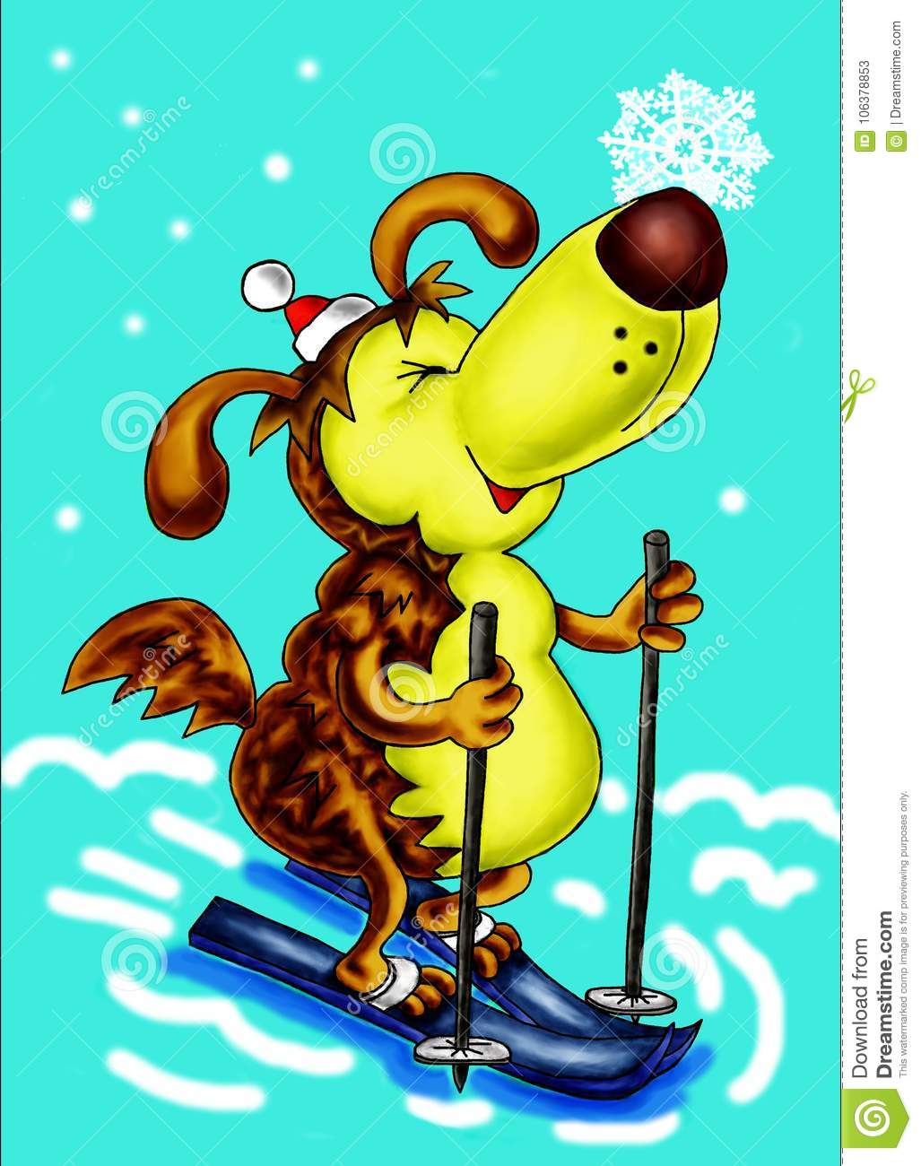 Symbol of 2018 yellow dog happy new year stock illustration symbol of 2018 yellow dog happy new year biocorpaavc Images