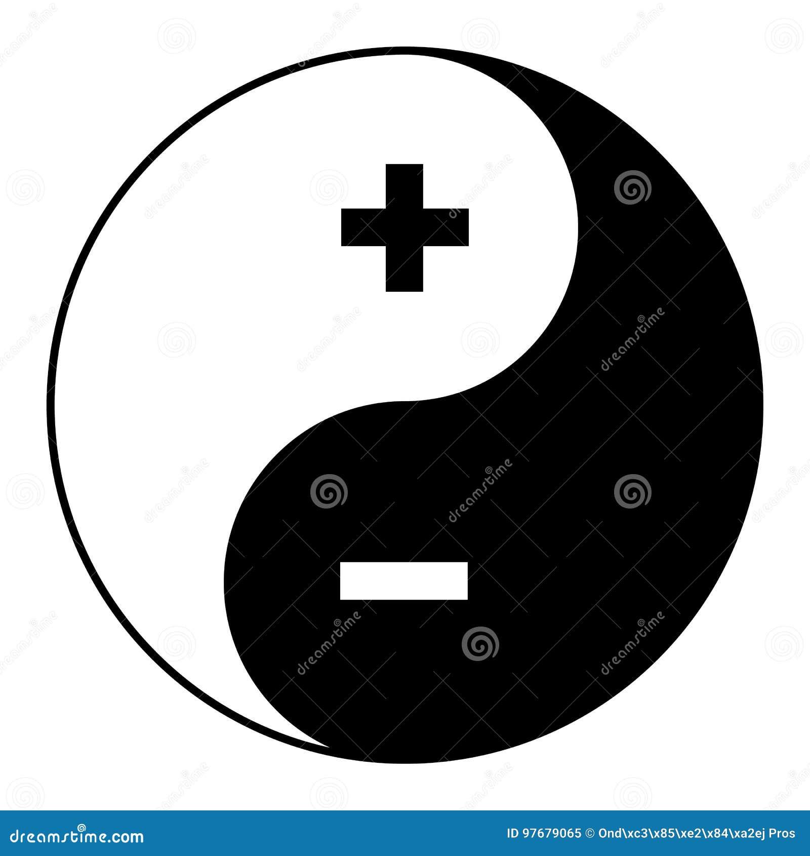 symbol yin yang von harmonie und balancenplus minus vektor abbildung illustration von japan. Black Bedroom Furniture Sets. Home Design Ideas