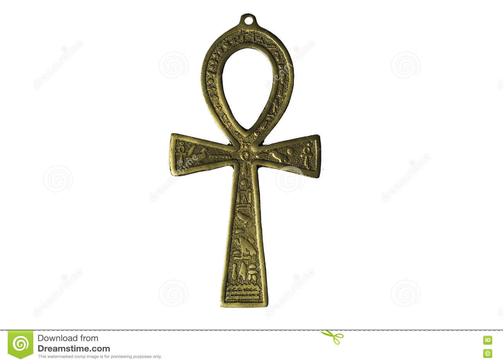 Symbole égyptien de la vie Ankh d isolement sur le blanc