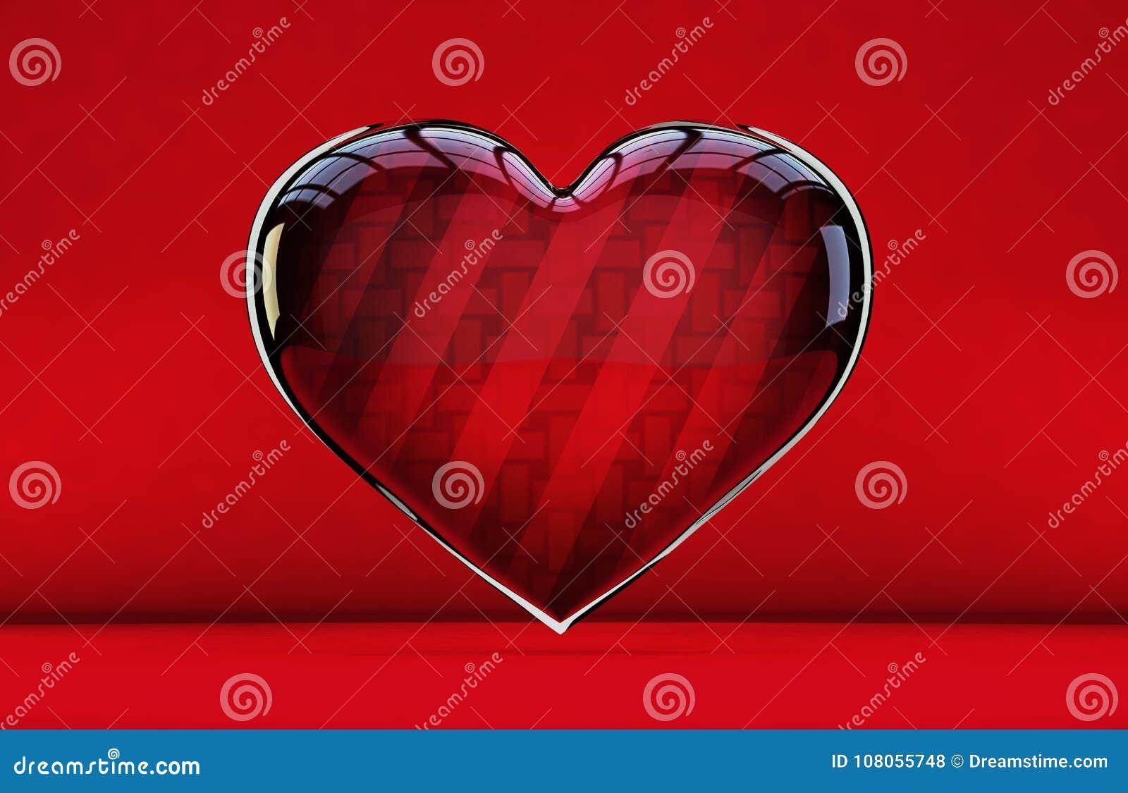 Symbole étonnant et brillant d icône de coeur