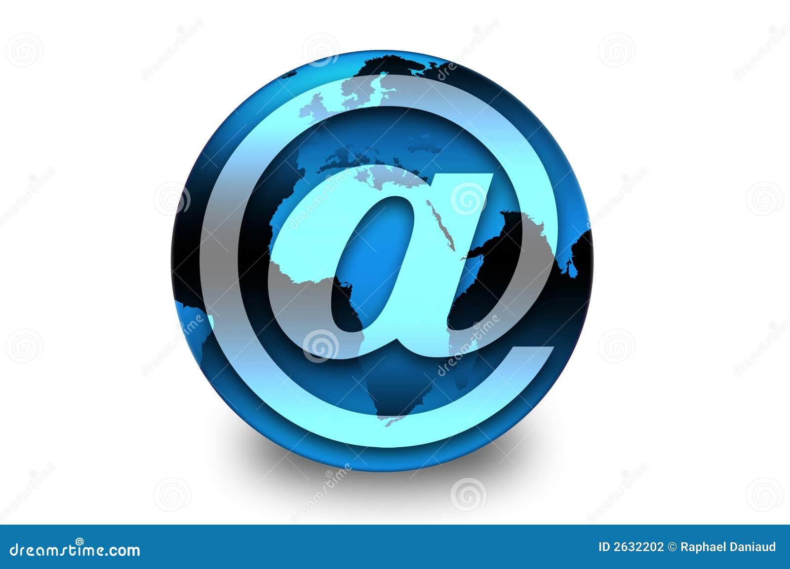 Symbole электронной почты земли