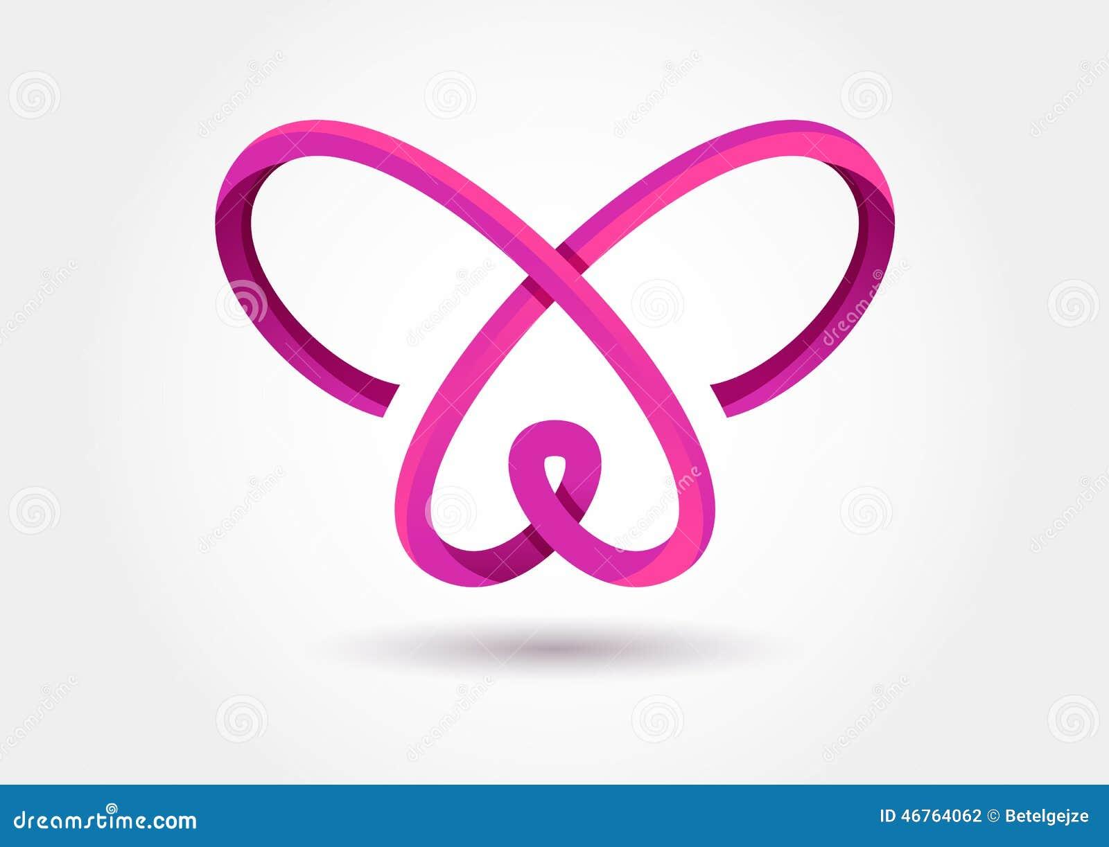 Symbole Abstrait De Papillon D Infini Calibre De Logo De