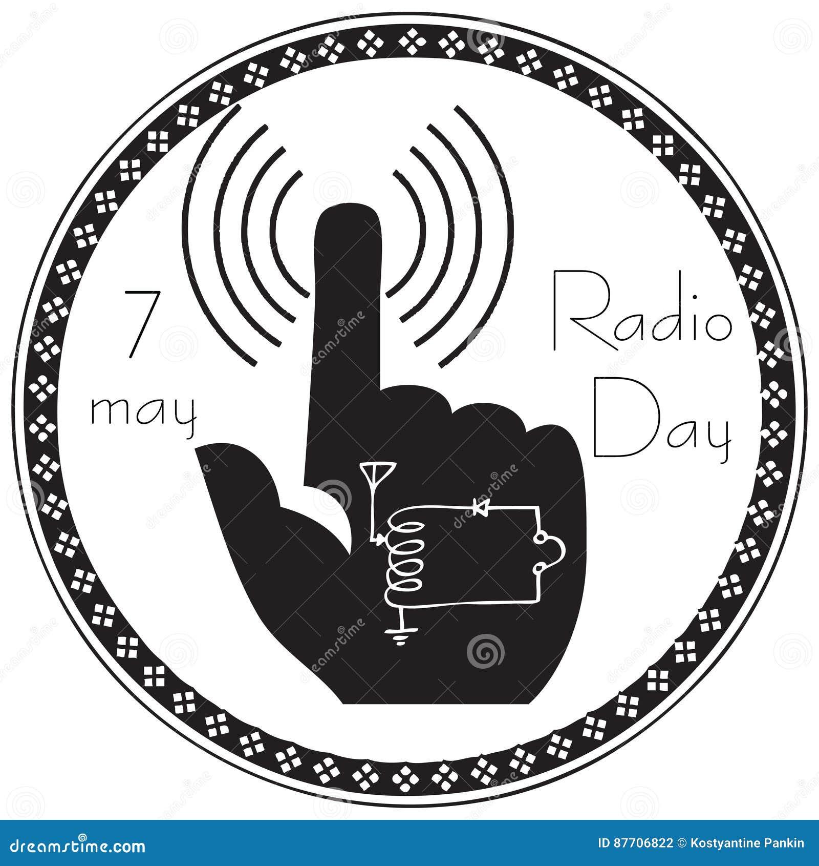 Symbole abstrait du jour par radio