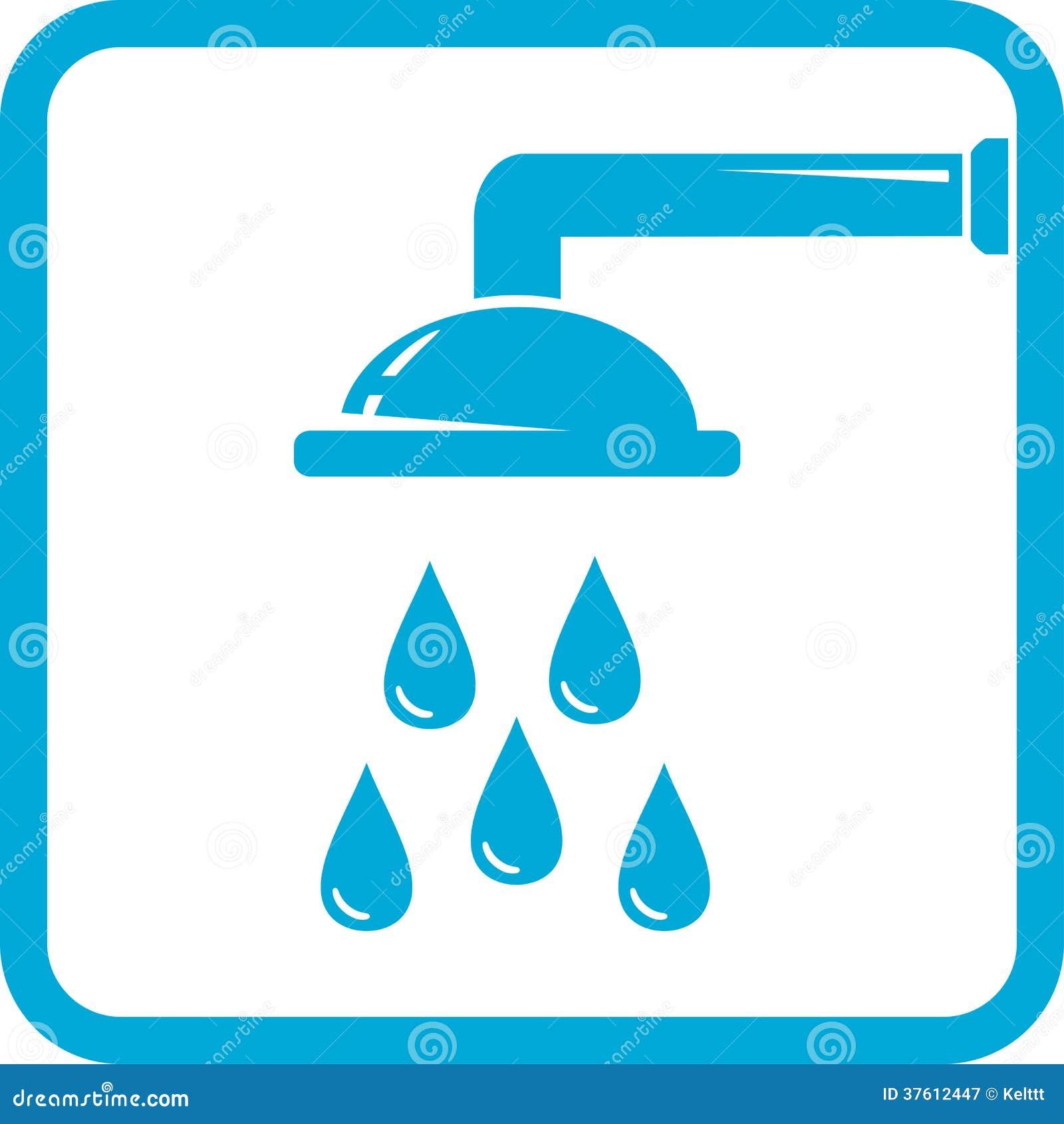 symbole bleu de salle de bains photographie stock libre de droits image 37612447. Black Bedroom Furniture Sets. Home Design Ideas