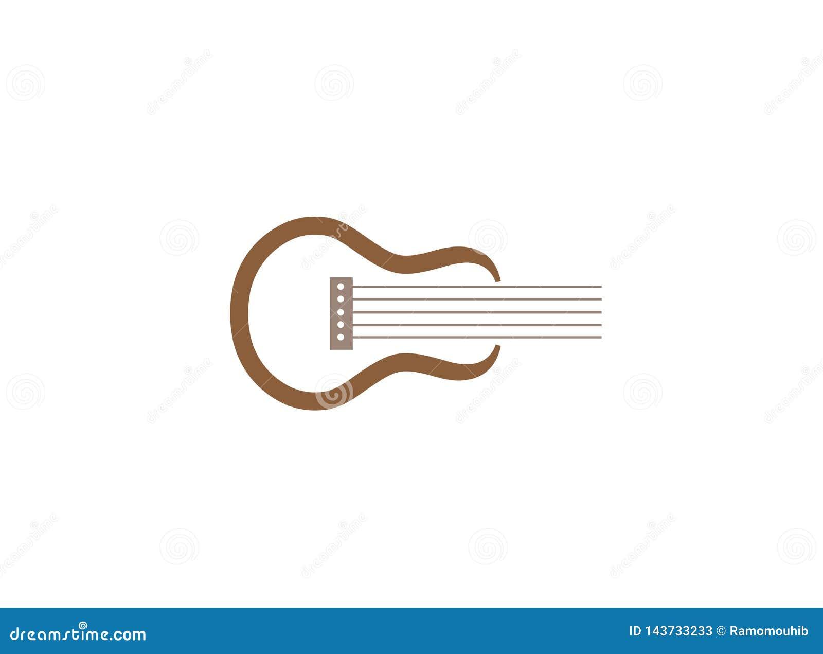 Symbole classique de guitare pour l illustration de conception de logo