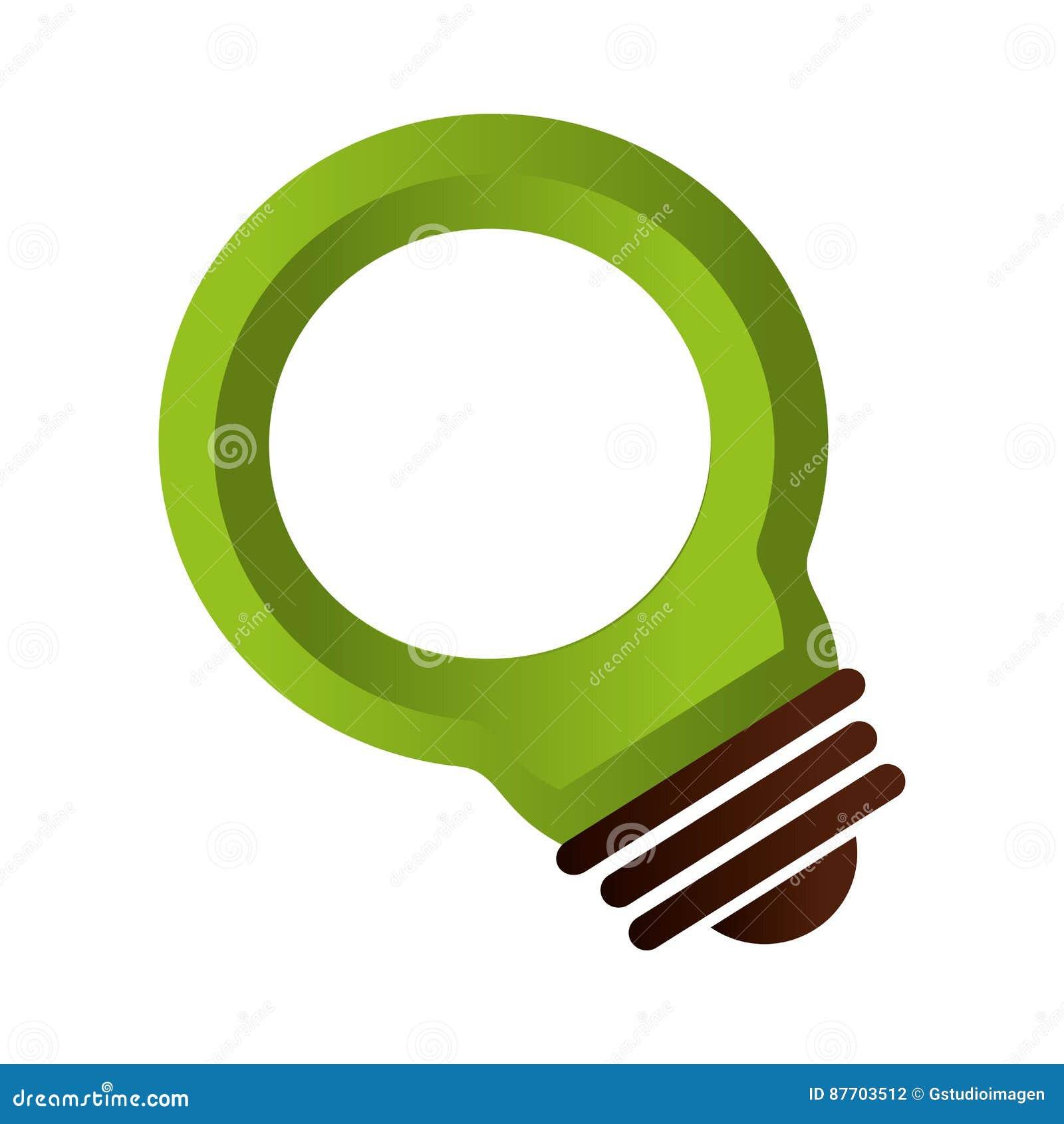 Symbole d écologie de lumière d ampoule