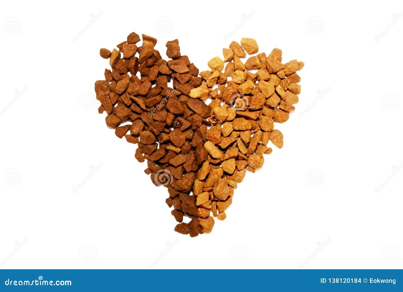 Symbole d amour de café, Yin Yang Heart Shape