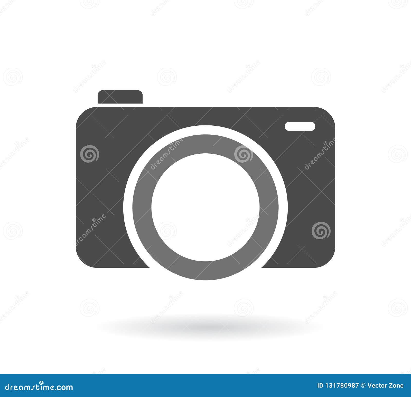 Symbole d appareil-photo Signe gris infographic d isolement