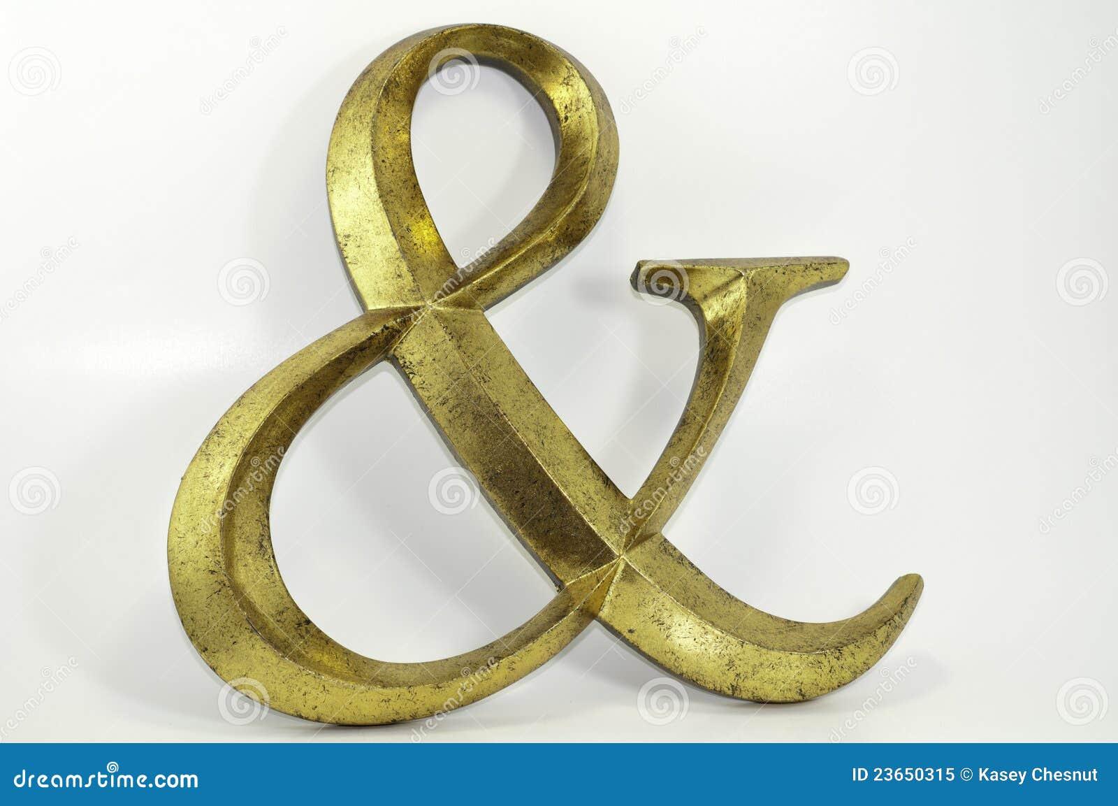 Symbole d esperluète antiqued par or