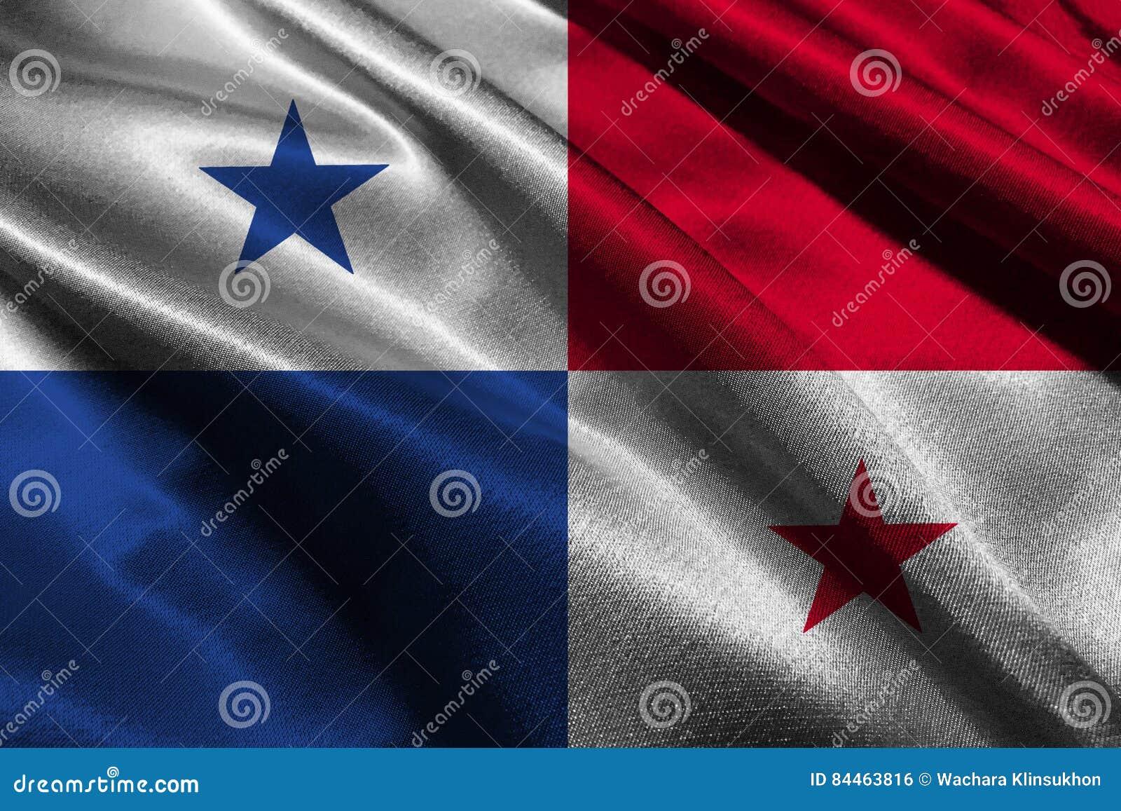 Symbole d illustration du drapeau 3D du Panama Drapeau du Panama