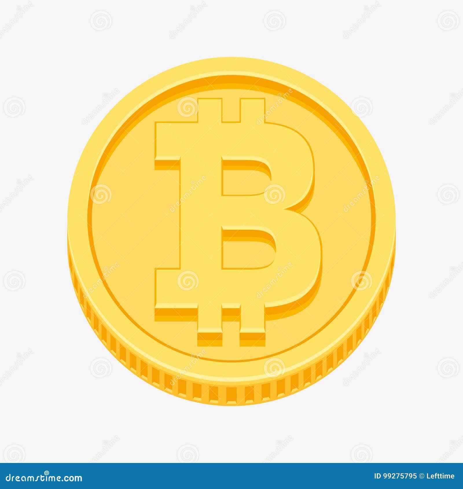 Symbole de Bitcoin sur la pièce d or