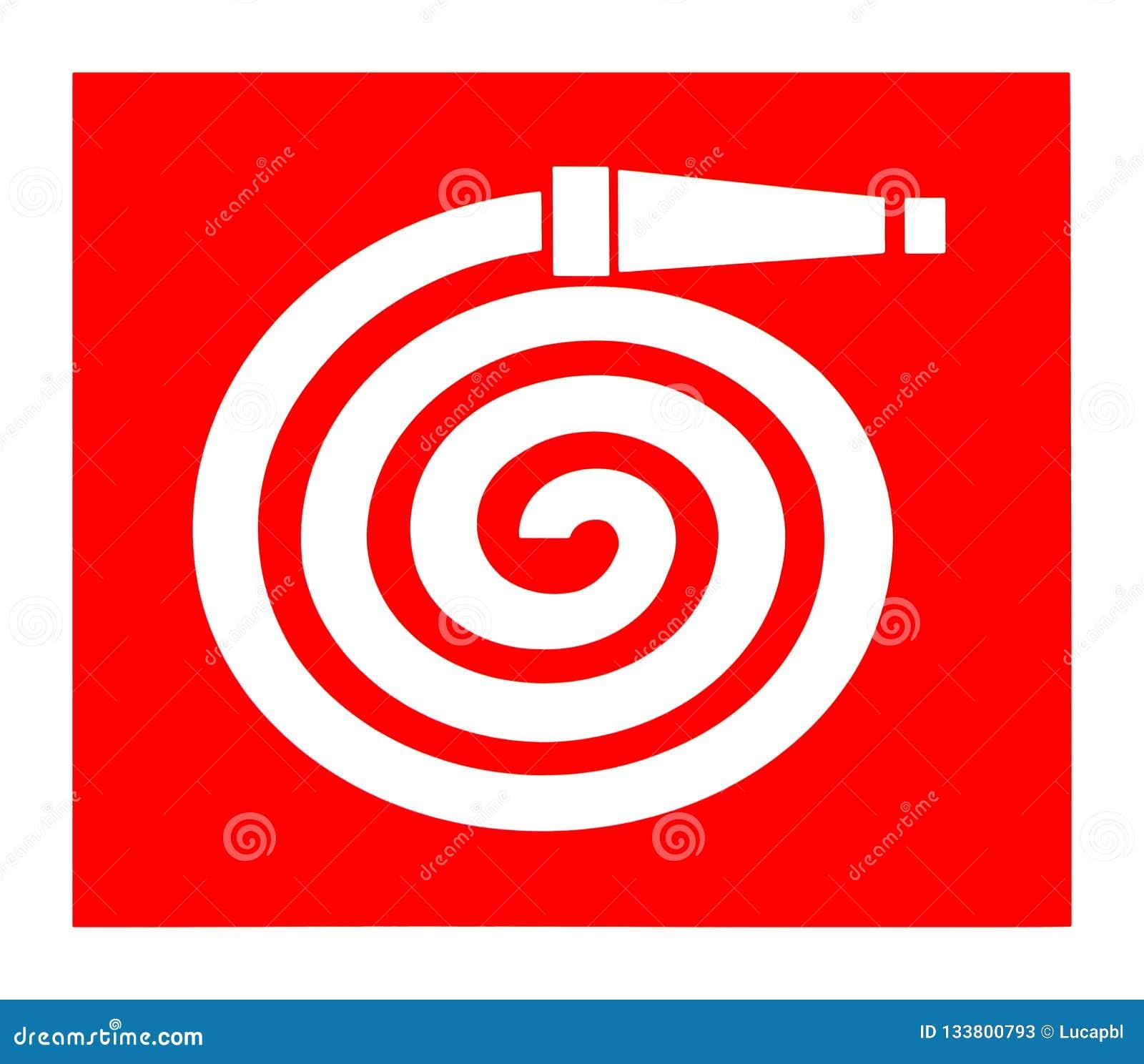 Symbole de bobine de tuyau d incendie, signe international