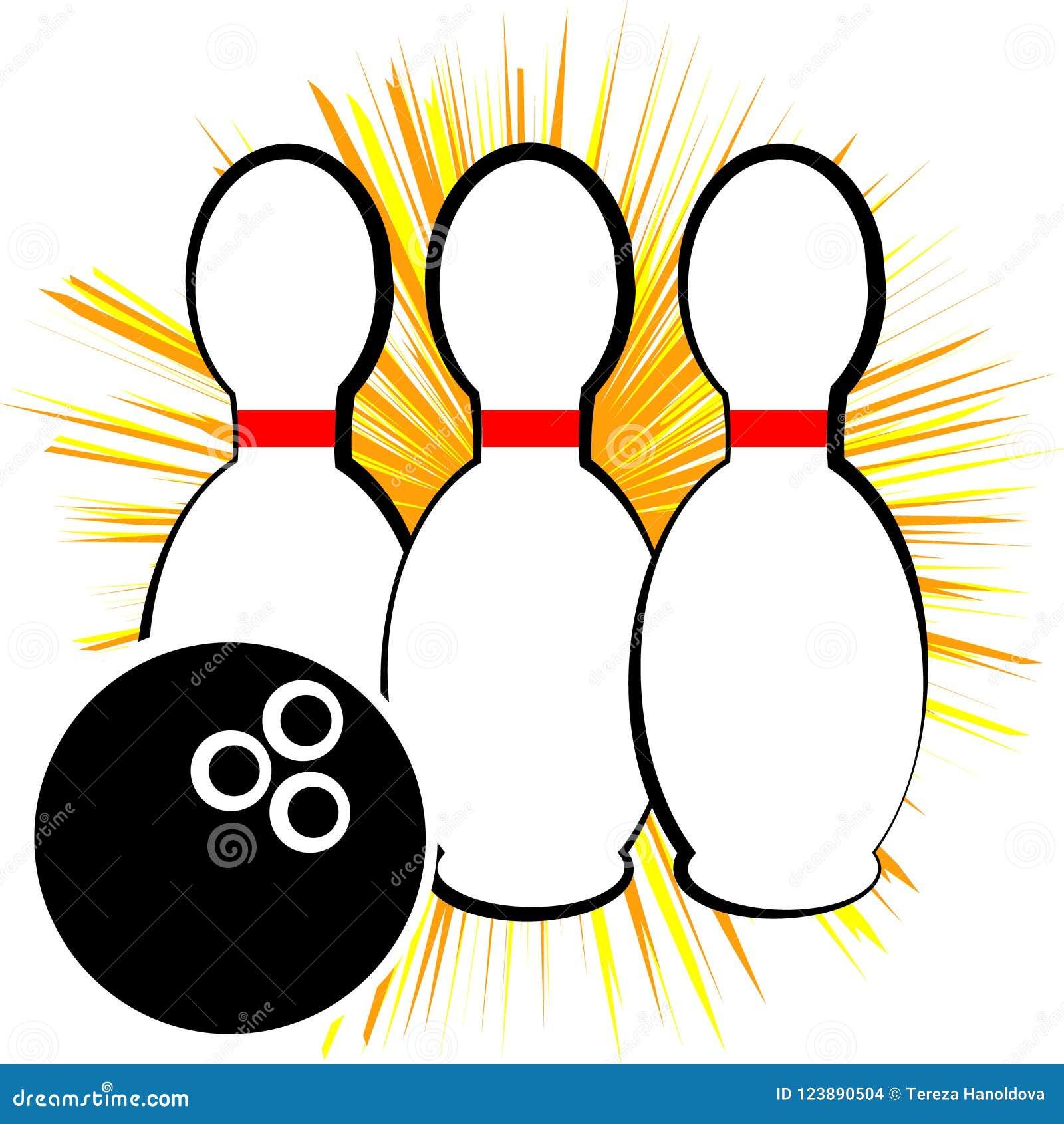 Symbole de bowling d isolement sur le fond blanc