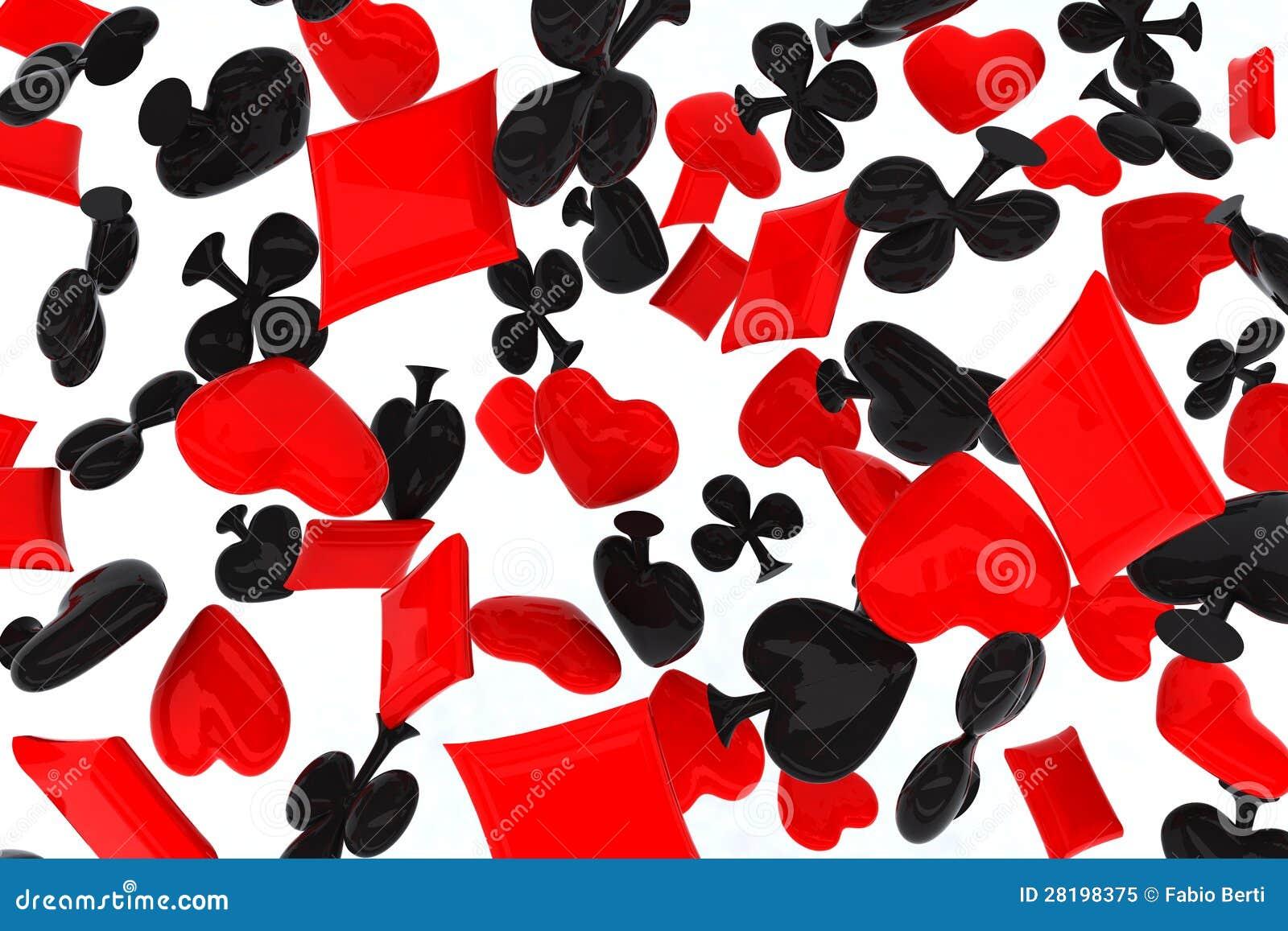 symbole de cartes de jeu 3d illustration stock image 28198375. Black Bedroom Furniture Sets. Home Design Ideas