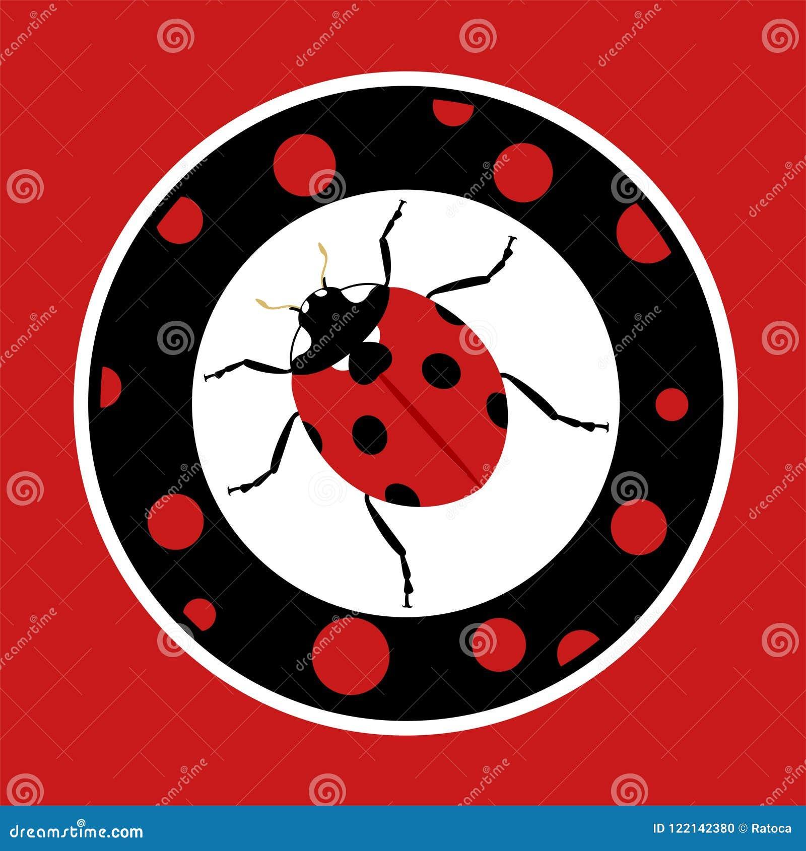 Coccinelle Symbole symbole de coccinelle de cercle illustration de vecteur