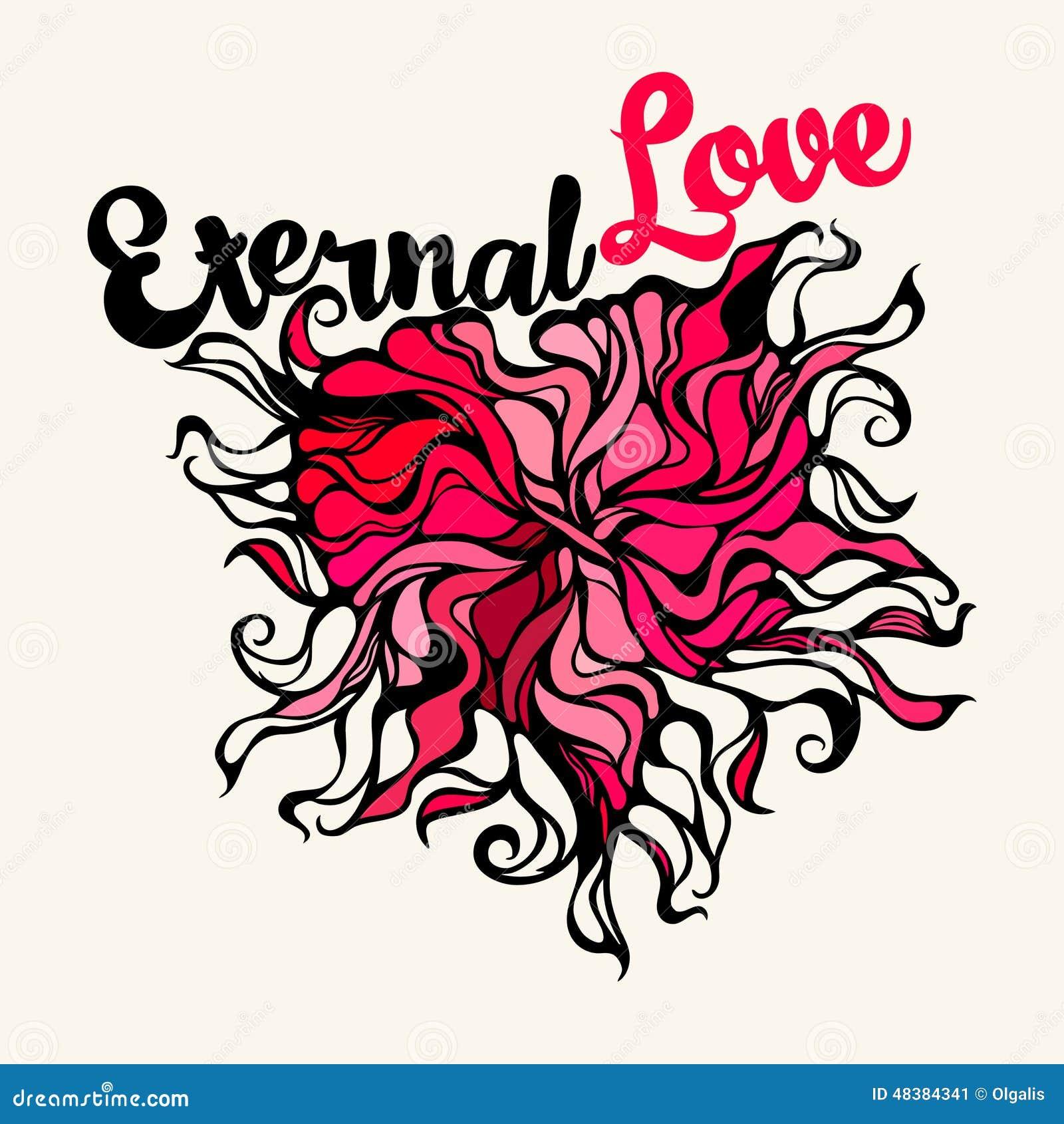 symbole de coeur de l 39 amour ternel illustration de vecteur image 48384341. Black Bedroom Furniture Sets. Home Design Ideas