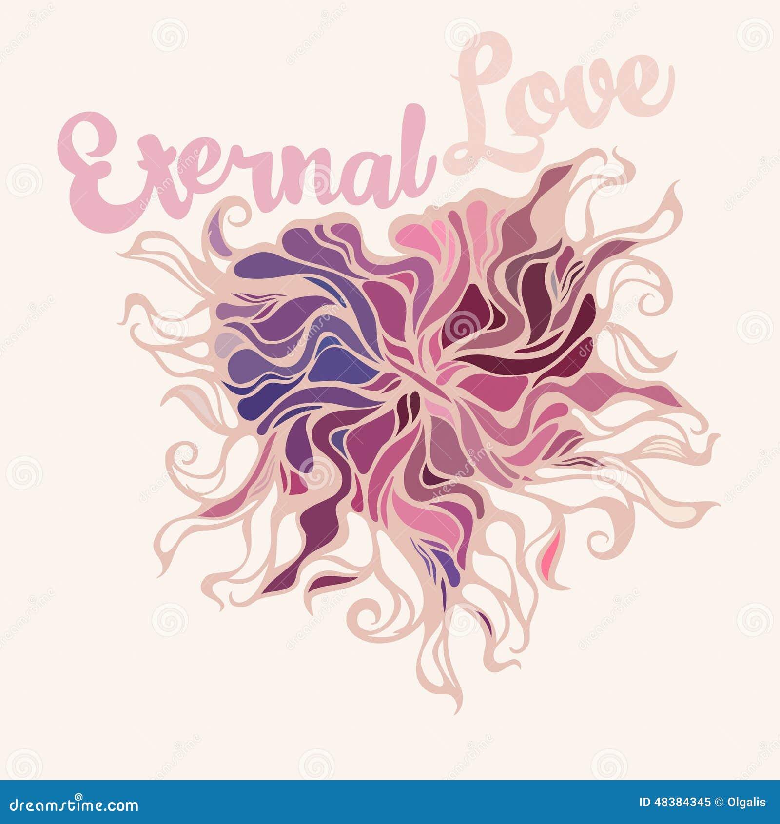 Symbole De Coeur De L Amour éternel Illustration De Vecteur